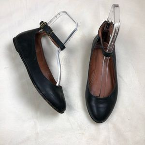 Lucky Brand Gyllian Blank Ankle Strap Leather Flat